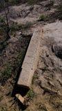 亦称坟茔石头在Mizdakhan公墓, Khodjeyli,卡拉卡尔帕克斯坦自治共和国,乌兹别克斯坦的Kulpytas 免版税库存图片