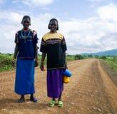 亦称孔索Xonsita部落妇女- 2012年10月03日, Omo谷,埃塞俄比亚 免版税库存照片