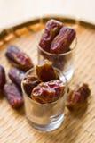 亦称枣椰子赖买丹月食物kurma。消耗在快速前 免版税库存图片