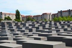 亦称浩劫对欧洲,柏林,德国的被谋杀的犹太人的纪念品纪念品 免版税库存照片