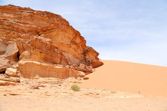亦称瓦地伦沙漠月亮的谷 免版税库存照片