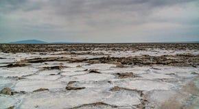亦称盐湖Karum湖Assale或Asale,在远处Danakil埃塞俄比亚 免版税图库摄影