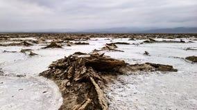 亦称盐湖Karum Assale或Asale,在远处Danakil埃塞俄比亚 图库摄影
