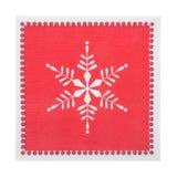 亦称红色圣诞节或欢乐纸巾餐巾,被隔绝 免版税库存照片