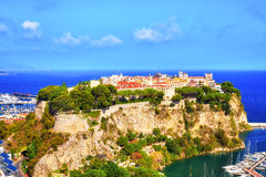 亦称美丽的岩石在摩纳哥Rocher 库存图片