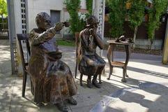 亦称著名五雕象,卡尔加里,加拿大 免版税库存图片