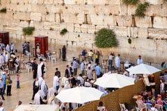 亦称西墙壁哭墙或Kotel在Jerusal 库存照片
