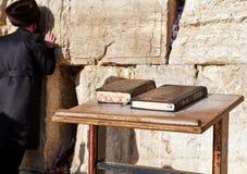 亦称西墙壁哭墙或Kotel在Jerusal 免版税图库摄影