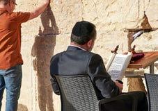 亦称西墙壁哭墙或Kotel在Jerusal 免版税库存图片