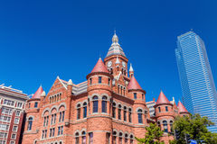亦称达拉斯县法院大楼老红色博物馆 免版税库存图片
