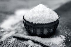 亦称食用盐氯化钠 图库摄影