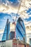 亦称30圣玛丽轴嫩黄瓜大厦,伦敦 免版税库存图片