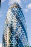 亦称30圣玛丽轴嫩黄瓜大厦,伦敦 图库摄影