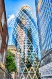 亦称30圣玛丽轴嫩黄瓜大厦,伦敦 库存图片