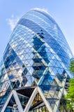 亦称30圣玛丽轴嫩黄瓜大厦,伦敦 免版税库存照片