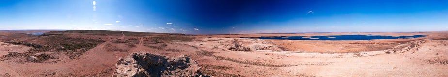 亦称360 Sudochye前咸海的湖零件风景Urga渔村的,卡拉卡尔帕克斯坦自治共和国,乌兹别克斯坦 免版税库存照片