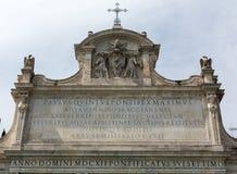 亦称Fontana dell'Acqua Paola Il Fontanone 免版税图库摄影