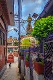 亦称Kathesimbu Stupa Sigal stupa 免版税图库摄影