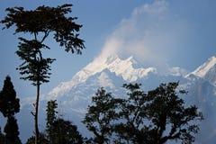 亦称Khangchendzonga干城章嘉峰 免版税图库摄影
