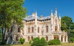 亦称Miclauseni城堡斯图尔扎城堡,罗马尼亚 库存图片