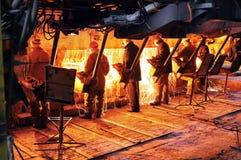 产业冶金持续铸件机模子 库存照片