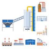产业和大厦标志传染媒介设计  产业和建筑股票的传染媒介象的汇集 皇族释放例证