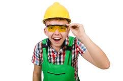 产业工人被隔绝 免版税图库摄影