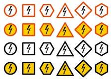 产业概念 套不同的警报信号:化学制品,放射性,危险,毒性,毒危险 危险符号 向量例证