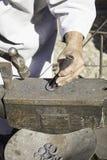 产业的铁匠 库存照片