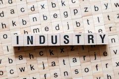 产业词概念 免版税库存照片