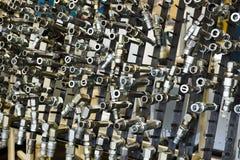 产业,制造的零件,工业背景 免版税图库摄影