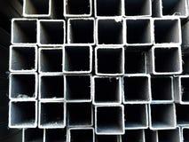 产业建筑的金属物质管子 库存照片