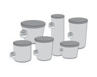 产品产业包装的容器 免版税库存图片