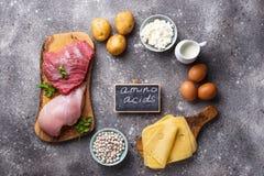 产品富有在氨基酸上 库存图片
