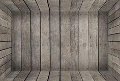 产品显示的空的木室箱子纹理 免版税库存图片