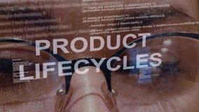 产品的生命周期在女性开发商背景发短信  影视素材