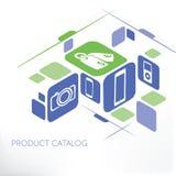 产品目录管理 向量例证
