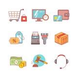 产品零售业,互联网购物 图库摄影
