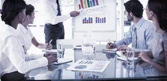 产生人介绍的商业 免版税库存图片