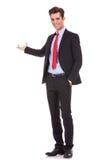 产生介绍的商人 免版税库存图片
