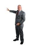 产生介绍的生意人 免版税库存图片