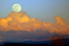 产生的月亮 免版税库存照片