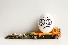 破产的企业概念 金钱损失  库存照片