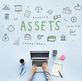 财产资产持有物品资本预算概念 库存照片