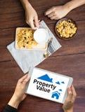 财产价值住宅贷款购买协议对居住的Mo 库存图片