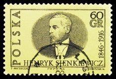 亨利克・显克微支(1846-1916),诺贝尔得奖者1905年serie,大约1966年 库存图片