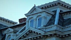 亨利县法院大楼伊利诺伊天窗 免版税库存照片