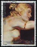 亨利4和玛里de Medici婚姻在利昂鲁文斯 免版税库存照片