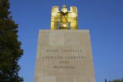 亨利Chapelle美国公墓入口 库存图片