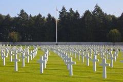 亨利Chapelle美国公墓, WWII 免版税库存图片